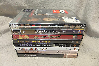 Lot of 8 Movie Drama DVDs -Airport + Exorcist + Virgina Woolf + Glengarry +Pond