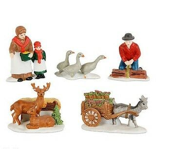 Dept 56 New England ~ Farm Animals Set of 5 ~ Mint In Box 59013