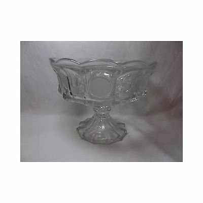 Fostoria Glass LIBERTY COIN PEDESTAL COMPOTE dish 1887 Eagle & Torch fruit bowl