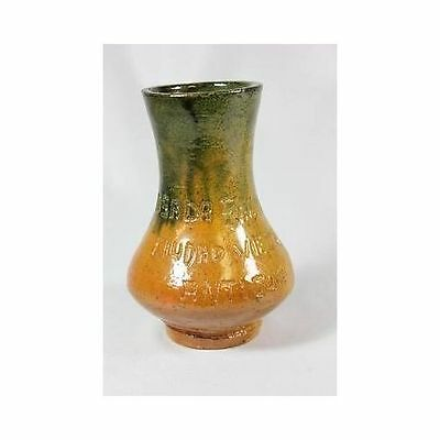 Antique Terracotta Green To Brown Posada San Angel Antigua Small Bud VASE