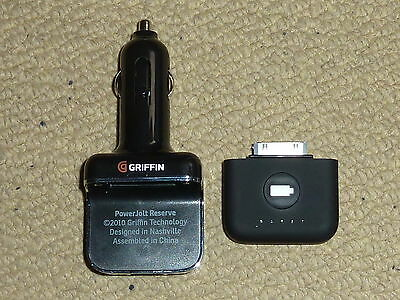 GRIFFIN POWERJOLT RESERVE for APPLE IPOD IPHONE CAR CHARGER BACKUP BATTERY USB