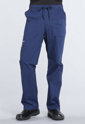 Navy Blue Cherokee Scrubs Workwear Professionals Mens Drawstring Pants WW190 NAV