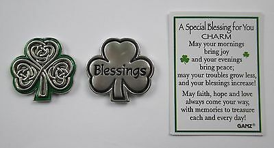 bb Blessings shamrock celtic SPECIAL BLESSING FOR YOU Pocket Token Charm ganz