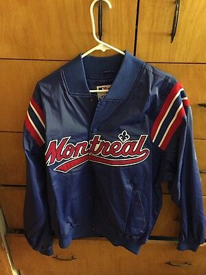 "Old Mlb Authentic  ""the Last Montreal Expos  Jacket ""  Vintage  Throwback"
