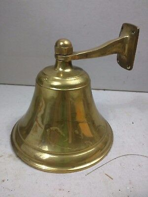Vintage BELL Bronze / Brass Nautical Marine Ship Boat Dinner Bell