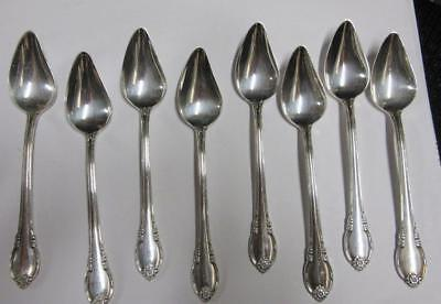 1847 ROGERS REMEMBRANCE SilverPlate  FRUIT SPOONS  8 PCS   FREE SHIP   VGC