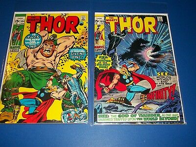 The Mighty Thor #184,185 Bronze age lot of 2 1st Infinity and Silent One