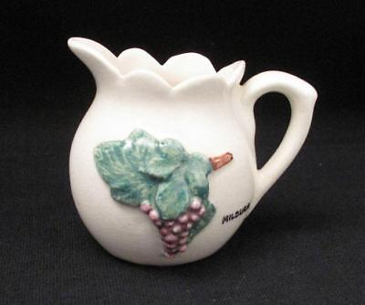 Signed Rose Noble Australian Pottery Tourist Ware  Jug Mildura With Grapes