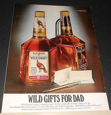 1979 Wild Turkey Kentucky bourbon whiskey Ad Father's Day WILD gifts for DAD