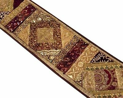 """60"""" Gorgeous Vintage Decor Sari Beads Sequin Runner Throw Wall Hanging Tapestry"""