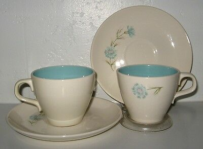 TAYLOR Smith Taylor Boutonniere Cup Saucer Set of 5