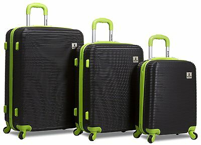 d740cce2d Rolite Orbit 3-Piece Lightweight Hardside Spinner Luggage Set - Black Green