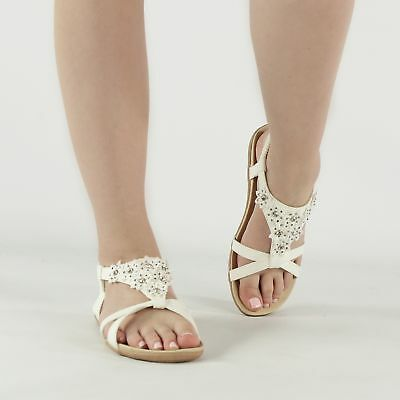 Shumo SHALIMAR Ladies Womens Cushioned Open Toe Strappy Summer Sandals Gold
