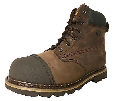 Buckler B301 Hard As Nails Chocolate Oil Leather safety boot SZ 6-12 - SALE