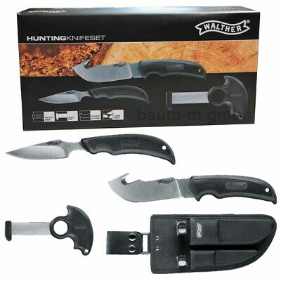 Jagd Messer Set mit Holster 440 Stahl von Walther Hunter Knife Set