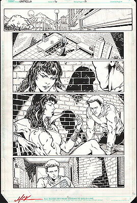 Matthew Clark Signed Original Vampirella #16 Harris Comics Art Page 2001 Series