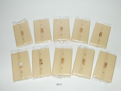 10 Single Gang Ivory Bakelite Switch Plate Outlet Cover