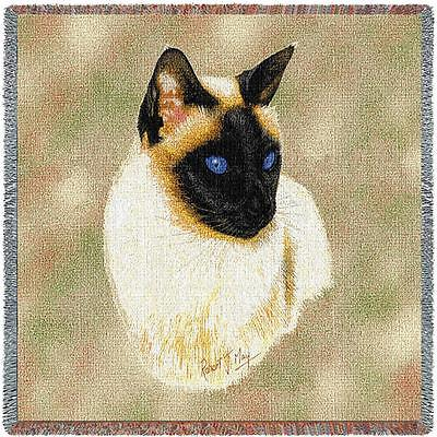 Lap Square Blanket - Siamese Cat by Robert May 1954