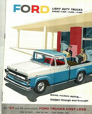 1957 Ford Light-Duty Trucks Deluxe Color Sales Catalog