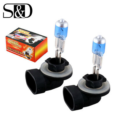 2x 881 H27W/2 894 White Fog Halogen Bulbs 27W Auto Car Headlight HID Lamp 5000K