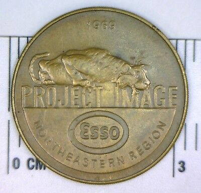 Esso 1969 Project Image 'put A Tiger In Your Tank' Medal: Ne Region: No Reserve!