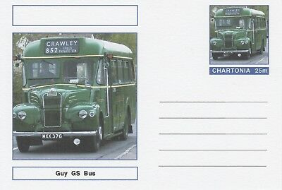 CINDERELLA 7221 - GUY GS BUS on Fantasy Postal Stationery card