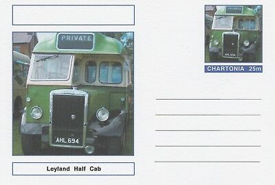 CINDERELLA 7224 - LEYLAND HALF CAB BUS on Fantasy Postal Stationery card