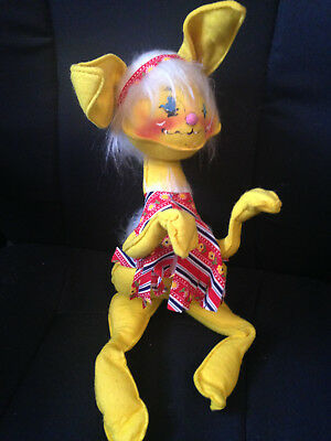Large 1969 Annalee yellow bunny doll