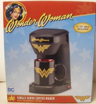 Wonder Woman Dc Comics Retro Justice League Single Cup Coffee Maker New