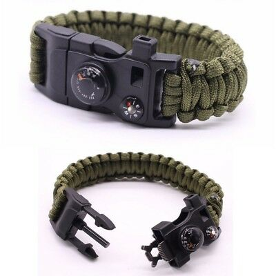 Premium Quality Camping Gear Paracord Survival Bracelet - Best Safety Band For C