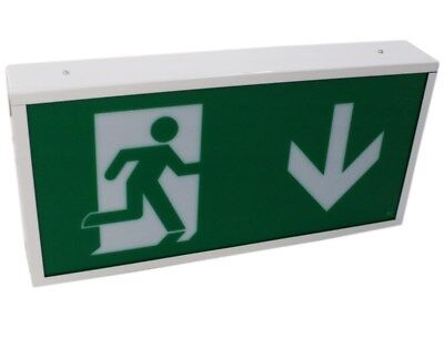 LED Emergency Exit Box Sign Non-Maintained PEL00782 M3FA#