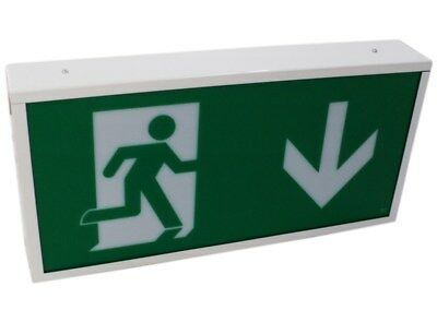 LED Emergency Exit Light Box Sign Non-Maintained PEL00782 M3FA#