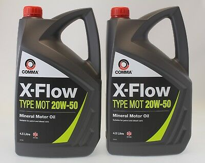 Comma X Flow Type Mineral Motor Oil / Engine Oil 20W 50 XFMOT1G/MOT1G   4.5L * 2
