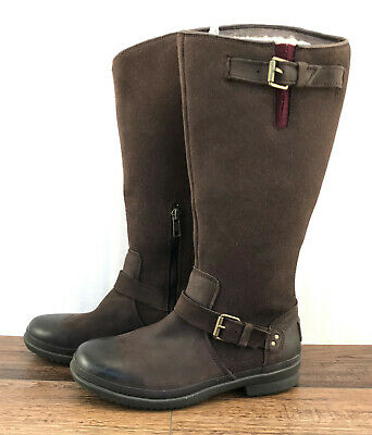 b66910bb95e UGG THOMSEN 1005268 WATERPROOF TALL BOOTS LEATHER SUEDE Stout Brown ...