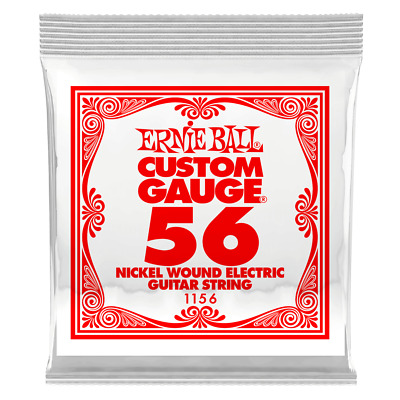 Ernie Ball .056 Nickel Wound Electric Guitar Single String 1156