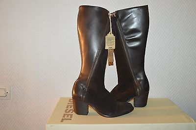 Chaussure Bottes  Haute Cuir Diesel Taille 37  Boots/botas/stivali Neuf