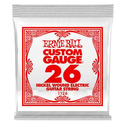 Ernie Ball .026 Nickel Wound Electric Guitar Single String 1126