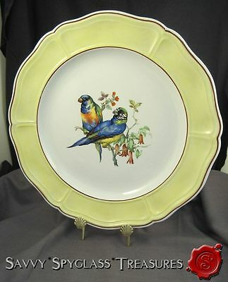 Mottahedeh Aviary Parrot Birds Italy Pottery Charger Platter