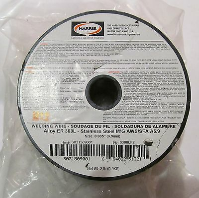 """2 Lbs Harris Welding Wire Stainless Steel Mig Aws/sfa A5.9 Er 308L Size 0.035"""""""