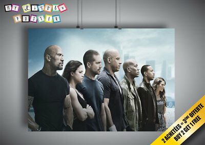 Poster Fast and Furious 7 all Characters Wall