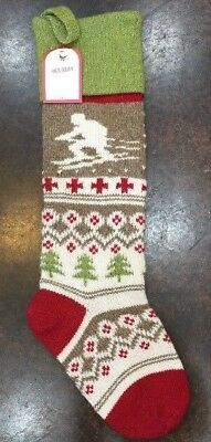 NWT Pottery Barn Kids Skier CLASSIC FAIR ISLE Holiday Christmas Stocking