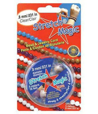 Stretch Magic 0.8 mm Clear Elastic Beading & Jewelry Cord - 5 Meters