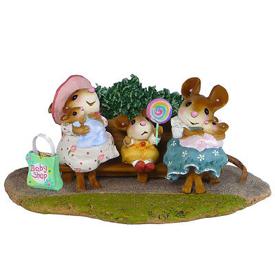 MOMMIES AT THE PARK by Wee Forest Folk, WFF# M-463a Retired Limited Edition 2015