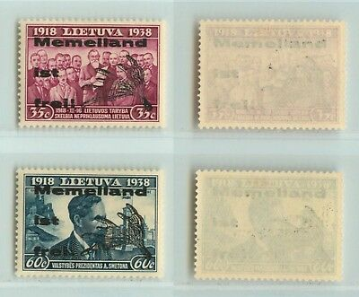 Lithuania Memel 1939 Freedom'overprint on 35 and 60 . d822