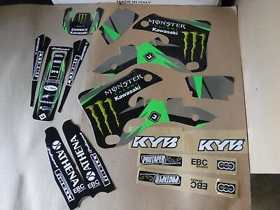 TEAM KAWASAKI GRAPHICS KX125 KX250 1999 2000 2001 2002     PTS Cernics