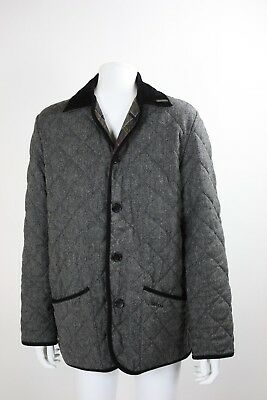 Men's Barbour Gray quilted gray Jacket Coat Size 38