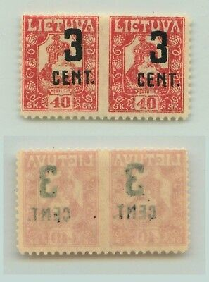 Lithuania 1922 SC 145a MNH missing perf . f3116