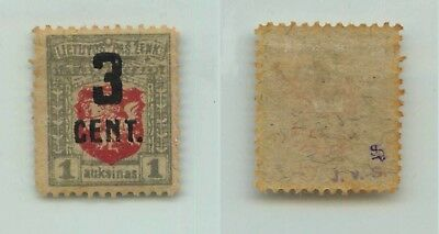 Lithuania 1922 SC 120 mint signed . f2565