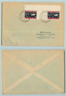 Lithuania 1948 cover used DP camp Augsburg-Hochfeld overprint . d7398