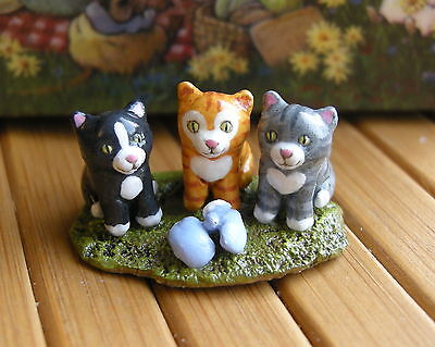 THREE LITTLE KITTENS by Wee Forest Folk, Mouse Expo 2012 Event Accessory